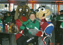 June hamming it up with the mascots.jpg